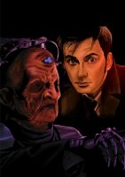Doctor and Davros Comic Art by westleyjsmith