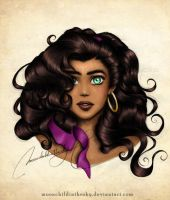 Esmeralda Portrait Color by MoonchildinTheSky