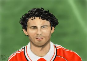 Ryan Giggs portrait by Martin-Saelens
