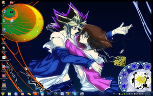 Yami x Anzu - Moonlight Dance - Win7 Desktop by PharaohAtisLioness