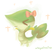 .: REQUEST :. Midnight The Snivy by poke-helioptile294