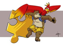 Banjo Kazooie by t-bone-0