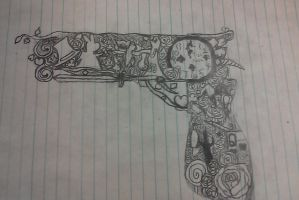 Alice in the Country of Hearts gun by rocknrebel88