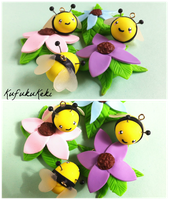 Bumble Bee Charms by Rhiannon-San