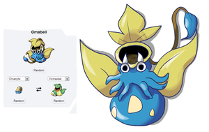 POKEMON FUSION 8: OMABELL by shinyscyther