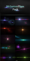 20 Custom Lens Flares Pack by madalincmc