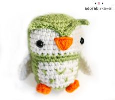 Green Owl Amigurumi by adorablykawaii