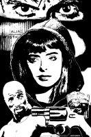 Guns, Booze and Jessica Jones INKS by BillForster