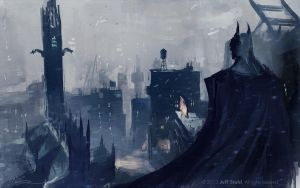 BATMAN fan art by JeffStahl