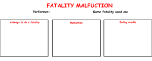 Fatality Malfunction Meme by Blackrhinoranger