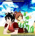 Fairy Tail - Collab Privat - Chiaki and Mei by CosmosWings