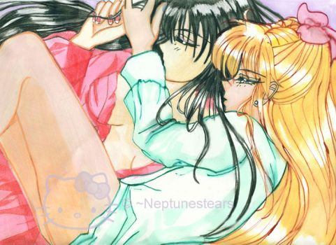 Sweet Morning - Rei and Minako by neptunestears