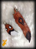 Painted dog tail and feather by Sweet-Fox-Wings
