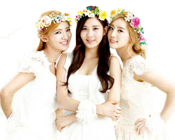 Hyoyeon Seohyun Taeyeon (SNSD) PNG Render by MiHVVN