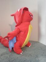 Charmander in a Charizard costume- by cosmiccrittercrafts