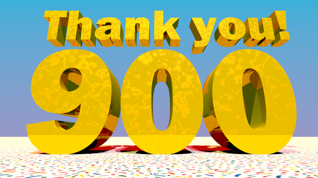 900 Watchers! Thank you! by Zylae