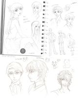 My messy sketches by Rinian