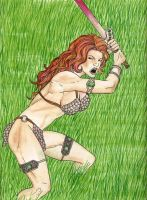 Fiery Red Sonja - Colored by wishful-puppeteer