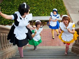 iDOLM@STER - maid race by hanyaanfaery