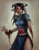 Chun Li ZOMBIFIED by Rats-in-the-van