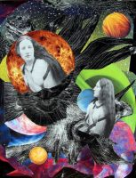 collage_woman, planets by betterL8t-thannever