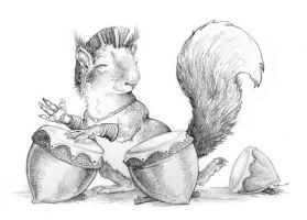 Squirrel Drummer by ursulav