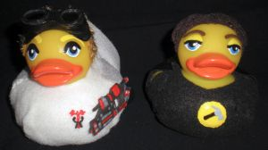 Dr Horrible and Captain Hammer Rubber Ducks by Oriana-X-Myst