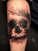 Skull tattoo by CarolineSalinas