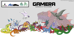 Gamera Groupshot by DinoHunter2