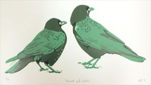 Russell and Goldie - Print by Saphiroko