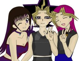 Britt,Atem and Hathor by QueenBrittStalin