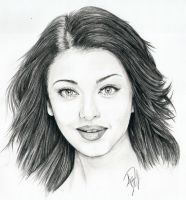Aishwarya Rai Portrait by Skimbleshanks2