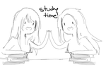 Study time with vika and emily x3 by KimikoEmiSama