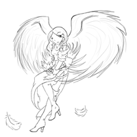 Vily angel lineart by alaisiaga