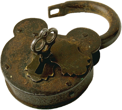 Antique Lock with Key by EveyD