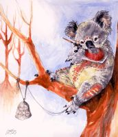 painting koala painting by koosh-llama