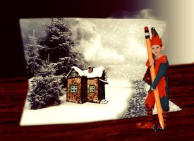 CHRISTMAS ELF by lunaperlada