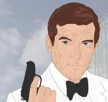 Roger Moore 007 by wernerth