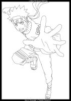 Naruto Lineart by Danaxxximmortal