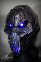 The Grave Ender v1.0 - light up cyberpunk helmet by TwoHornsUnited