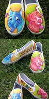 Custom Shoes: Pretty and Pit by Coloran