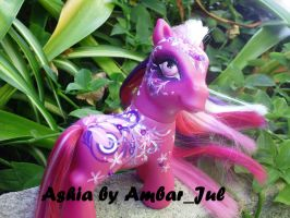 My little pony custom Ashia by AmbarJulieta