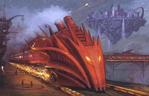 Dragon Fire Express by Simon Buckroyd by Binoched