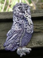 Violet owl key keeper by OwlPolaris