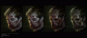 Zombie Decay Stages concepts by nickhuddlestonartist