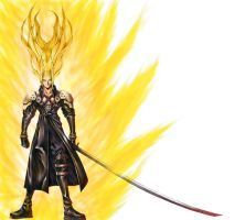 Super Saiyan Sephiroth :o by Osa-Soft
