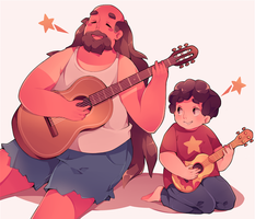 Steven and Greg Universe by cinann