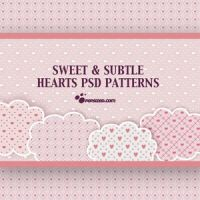 Free Hearts PSD Patterns by blitherjust