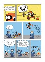 Despondent Mega Man - Beneath, Between, and Behind by JesseDuRona