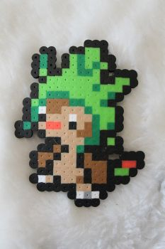 perler bead Chespin by Mist-Fang